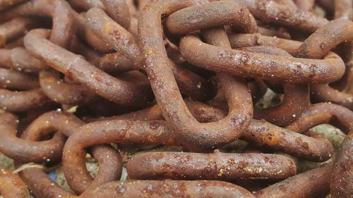 rust rusted chains