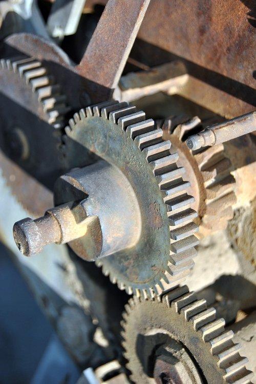 rust  gears  past