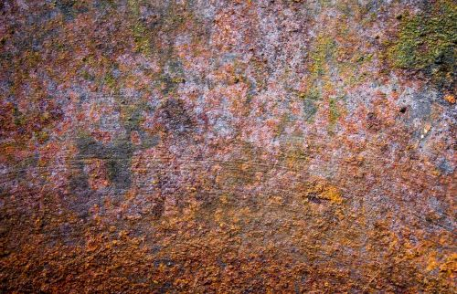 rust dyed metal