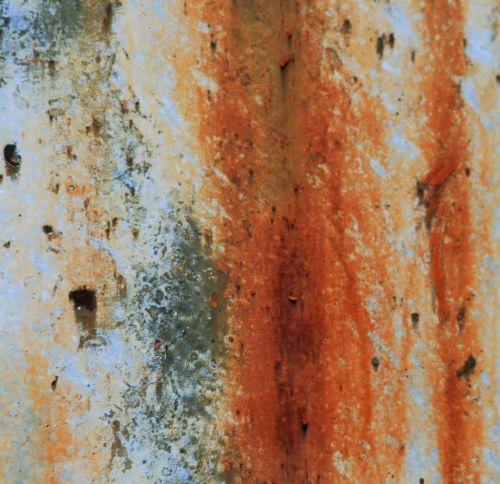 Rust Oxidation On Metal Door