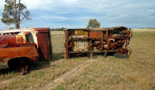 rusted scrap junk