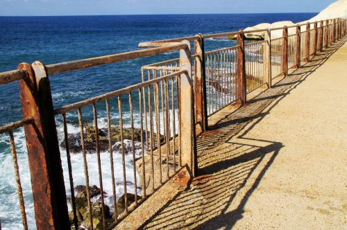 Rusted Fence At Seaside