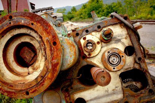 rusted motor junkyard motor