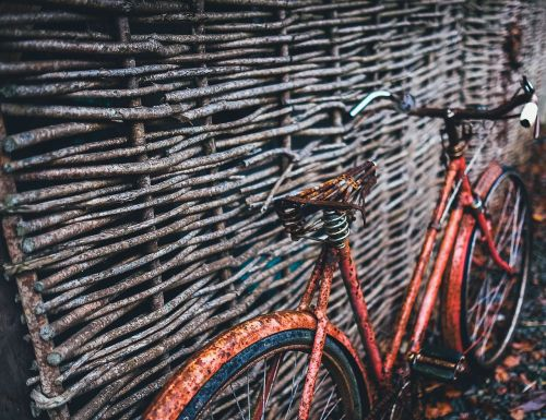 rustic bicycle retro