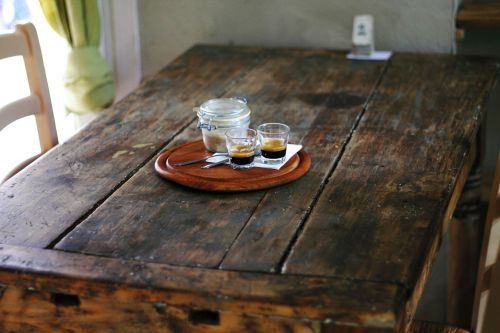 rustic table wooden
