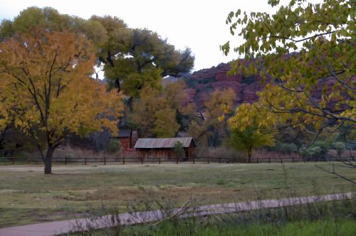 Rustic Autumn Cabin