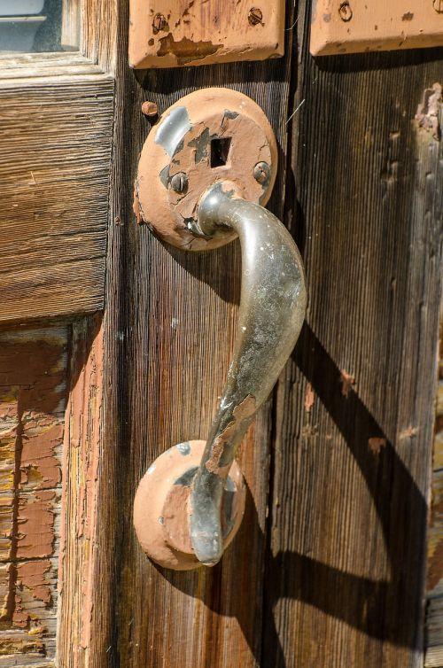 rustic door handle old door handle rusty