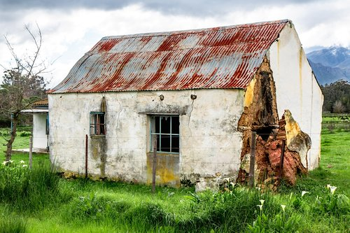 rustic house  country house  derelict building