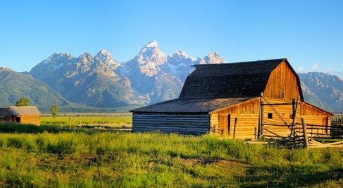 rustic mormon row barn  barn  grand