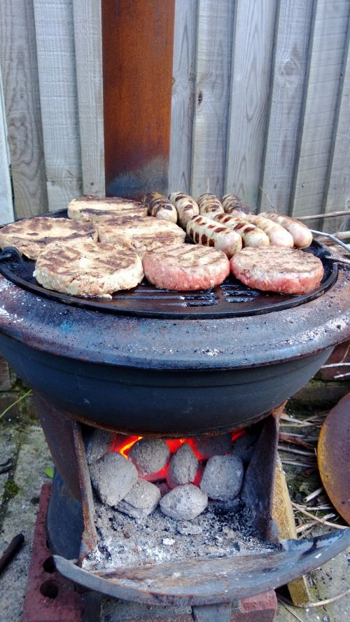 Rustic Outdoors BBQ Cooking