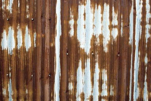 rustic tin  corrugated  wall