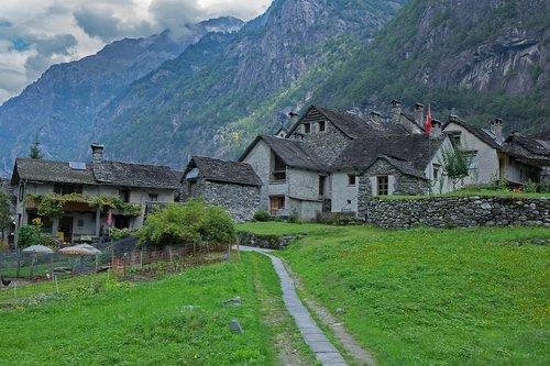 rustico  ticino  stone house