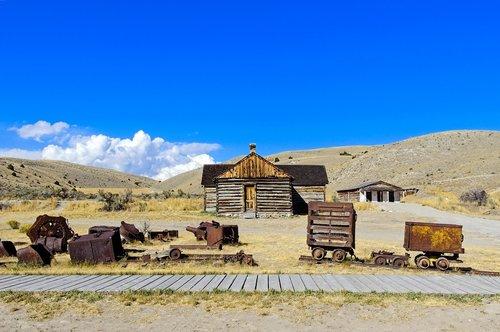 rusting mining equipment  bannack  montana