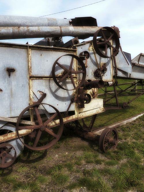 rusty metal old machine