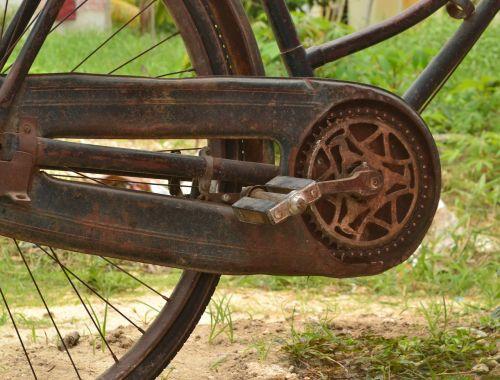 rusty bicycle vintage bicycle onthel bike