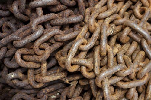 rusty chain chain rusty
