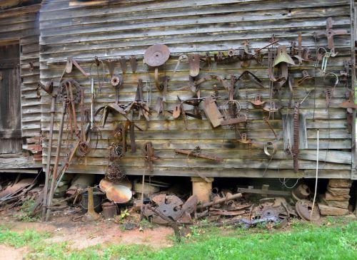 Rusty Farm Tools