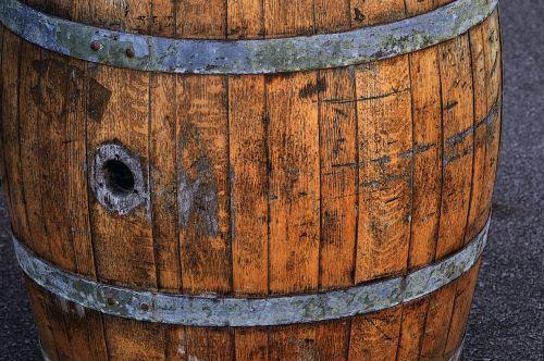 Rusty Whiskey Barrel