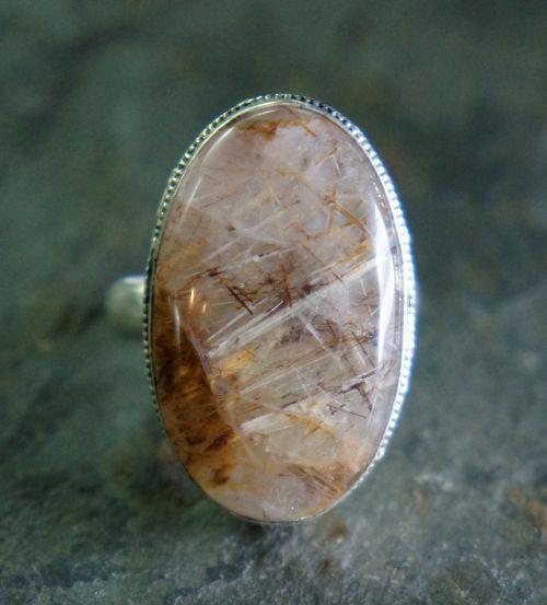 rutilated quartz golden brown