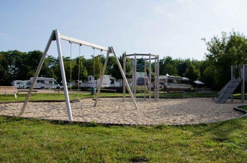 rv parking campsite playground