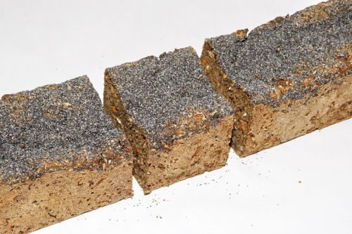 rye bread blue poppy seeds food