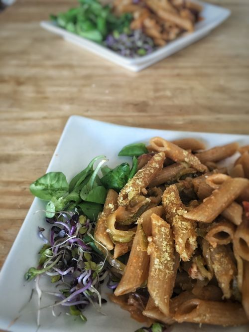 rye pasta yeast flakes sprouts