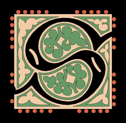 s alphabet vintage