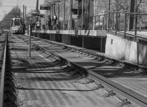 s bahn  rails  platform
