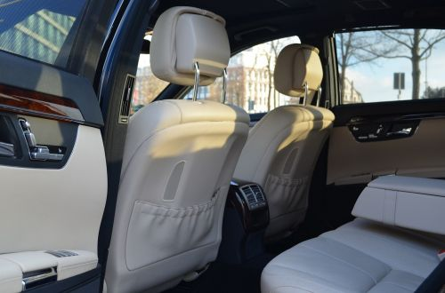 s class limousine interior view