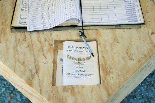 Saaf Memorial Visitors Book