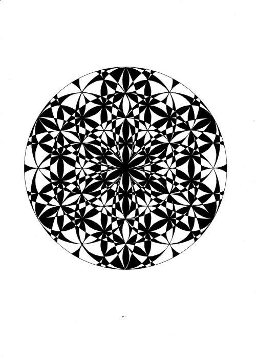 sacred geometry hand drawn