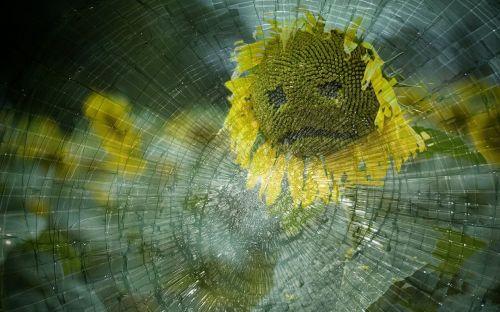 sad broken glass