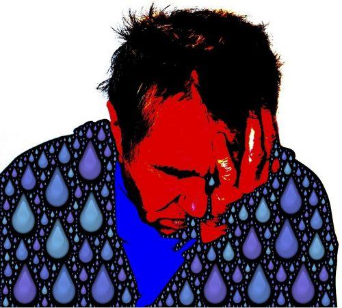 sad sorrowful tearful