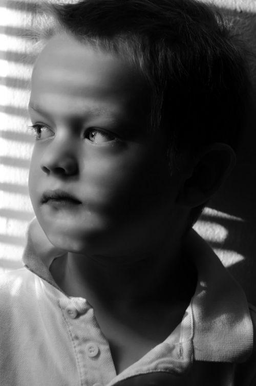 Sad Child - Black And White