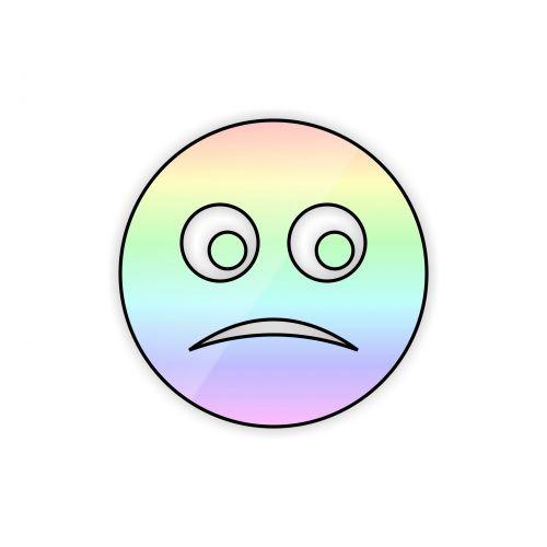 Sad Rainbow Smiley