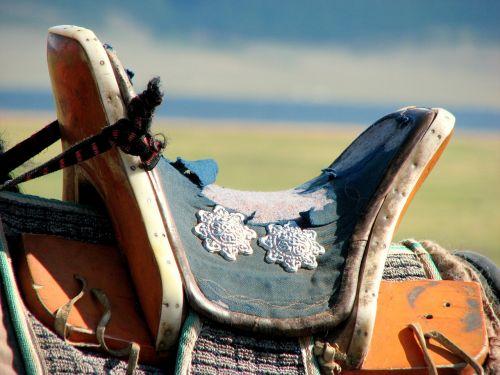 saddle wooden saddle mongolia