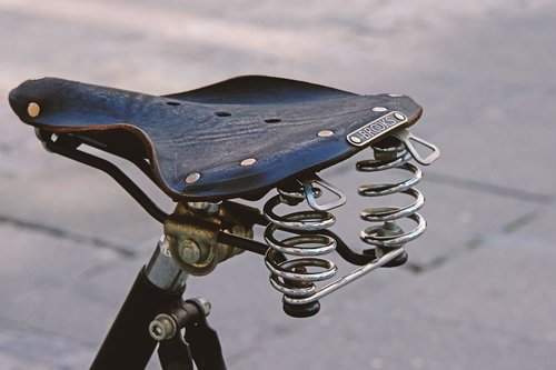 saddle  bicycle saddle  old