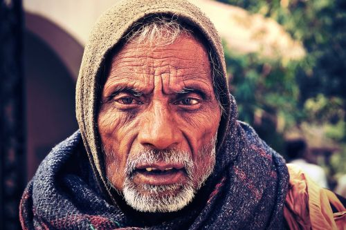 sadhu vrindavan india