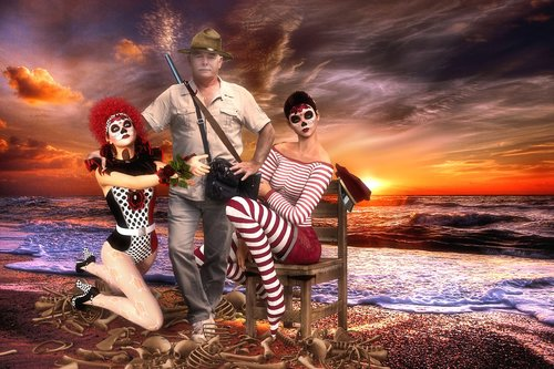 safari  sea  wild