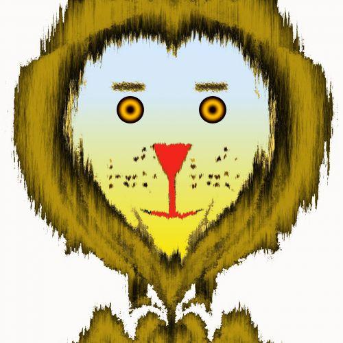 Safari Lion Cartoon