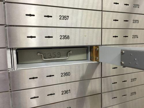 safe bank safe deposit box