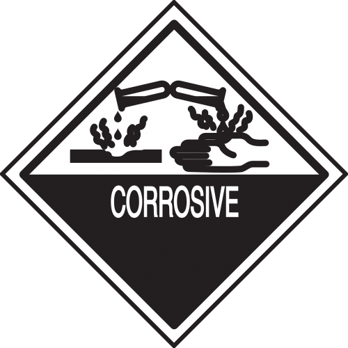 safety warning corrosive