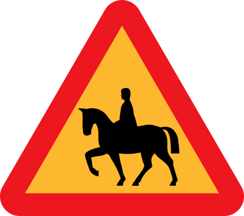 safety horse road