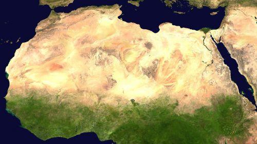 sahara desert satellite photo