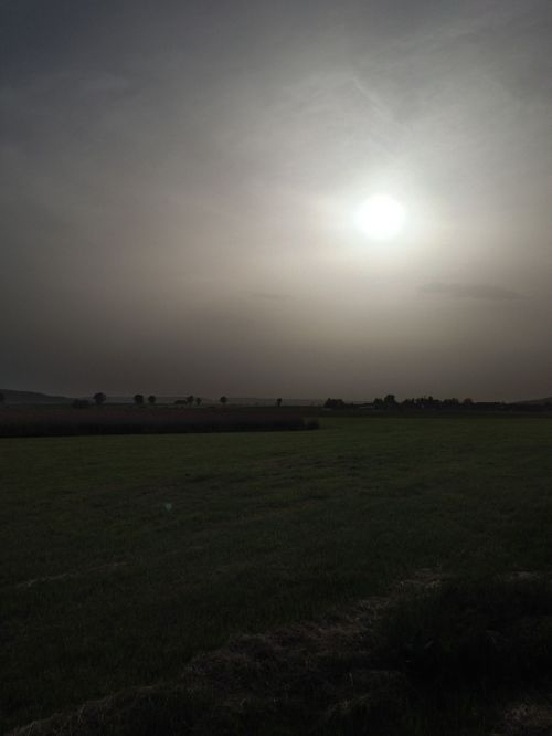 sahara dust haze fog