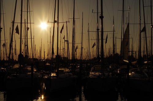 sail port sunset