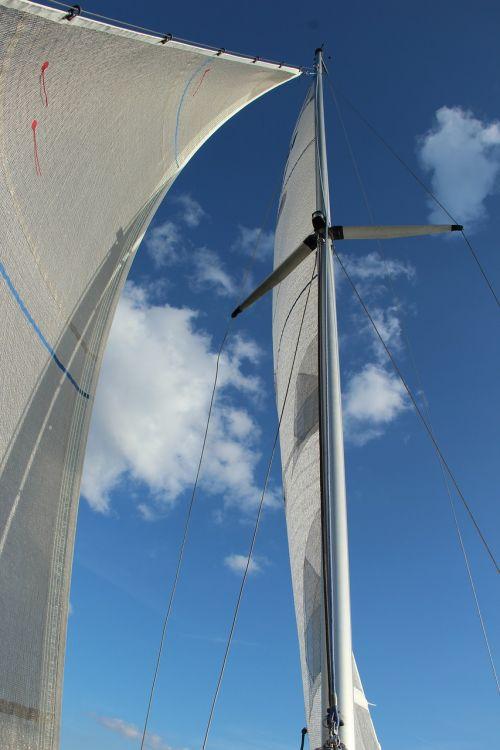 sail sailing mast sky