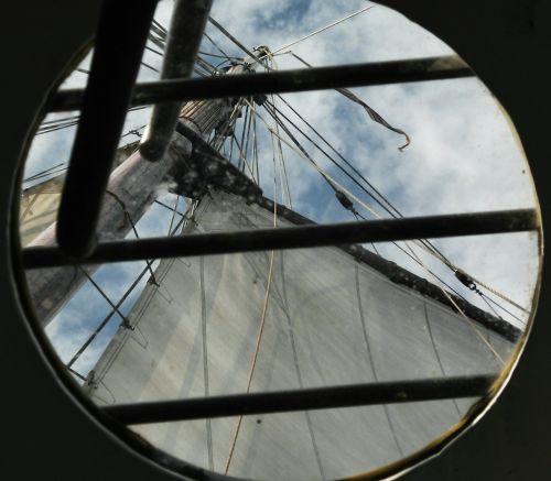 sail ship porthole