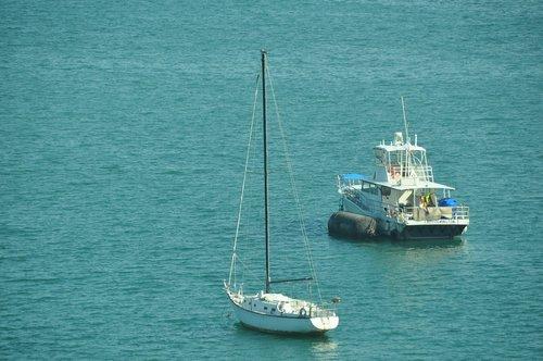 sail boat  sea  water