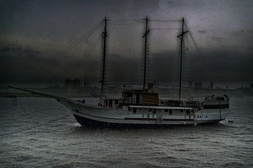 sail boat ship storm